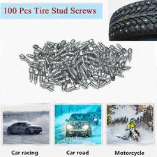 100x 15mm Anti Slip Ice Snow Wet Road Tire Stud Spikes Winter Tire Accessories