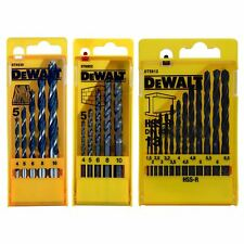 DeWalt 5pc Brad Point Wood, 5pc Masonry & 13pc HSS-R Metal Drill Bit Sets