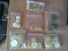 38 x Assorted Sizes of Yellow and Green  Buttons FREE POSTAGE IN UK