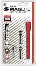MINI MAGLITE LED 2-CELL AAA FLASHLIGHT - RED