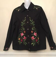 Victor Costa Occasion Jacket Coat Size XS Embroidered Flowers Roses NWT