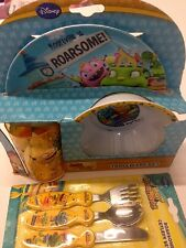 DISNEY CHARACTORS KIDS DINNER 6 PC SET CEREAL BOWL,TUMBLER & PLATE & UTENSILS