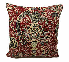 Sanderson Fabrics -William Morris- Rosso Indiano/Nera Copricuscino 40.6cmx40.6cm