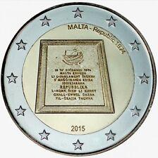 2 euro malta 2015 commemorativo proclamazione repubblica fdc LEGGERE DESCRIZIONE