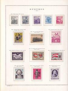 Austria, collezione 1963-77 su album Marini - Valori nuovi Mnh - Leggi descrizio