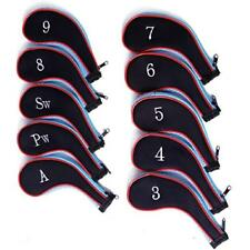 Golf Club Head Cover Neoprene Zippered Sand Wedge Pitching Approach 10 Pcs Blue