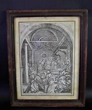 Albrecht DÜRER (1471-1528) JESUS im TEMPEL - alter Holzschnitt - Adelssiegel FF