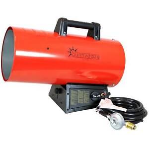 Sunnydaze 125,000 BTU Forced Air Propane Heater - Overheat Auto-Shutoff
