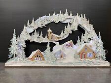 MDF Alpine Village Christmas Scene Unpainted MDF Kit