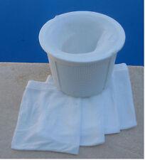 Swimming Pool  Skimmer Debris Pre Filter Bags x 2