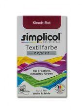 Simplicol 1704 Textilfarbe Expert, Kirsch-Rot   - NEU & OVP -