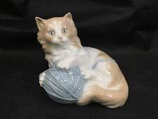 Lladro Nao Kitten Cat w/ Yarn Ball Porcelain Glazed Figurine 1978 Retired