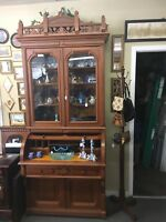 Antique Eastlake victorian cylinder Desk Not Many Of These Around Any More