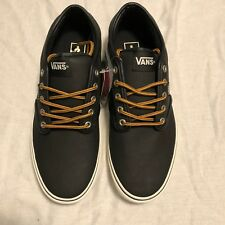 NEW VANS MENS Atwood Leather Black Marshmallow SZ 12 VN0A327L68X