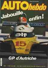 AUTO HEBDO n°229 du 21 Août 1980 GP AUTRICHE ROBERT CHOULET