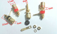 4pcs Gold plated Amplifier Terminal Binding Post Banana Audio Plug Jack 4mm
