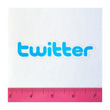 Skateboard Guitar Luggage Laptop PVC Clear Thick Decal Sticker - Blue Twitter