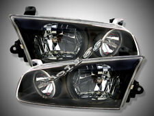 2000-2001 Toyota Camry Headlights JDM Black Halo Rim Lamps NEW