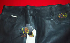 """PANTS COWHIDE  LEATHER MOTOR CYCLE BIKERS  BRAND NEW,TAGS BY """"EASY RIDE'SIZE 42"""