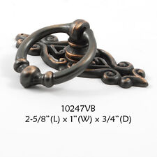 FURNITURE Hardware Drawer Ring Pull Venetian Bronze with Backplate