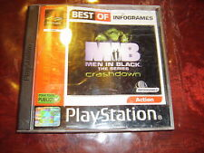 MEN IN BLACK: The Series CRASHDOWN jeu playstation PS1 PAL v. Fr Complet BEG