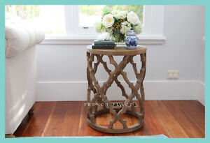 *IN STOCK!* NEW French Provincial Hamptons Style Reclaimed Elm Side Table