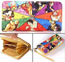 New Anime One Piece Long Zipper Wallet Purse Cosplay Gift