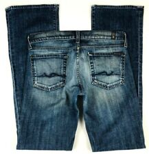 7 For All Mankind (28) Womens Bootcut Jeans Stretch Medium Wash Inseam 32.5""