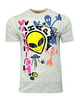 Men's UFO Alien T Shirt Soul Star Wave High Printed Logo Short Sleeve Tee Top