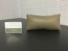 Handmade Faux Leather/ Vinyl Cosmetic Bag/ Pencil Case in Taupe