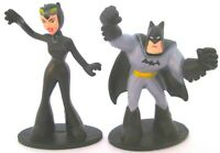 *BATMAN & CATWOMAN DC Comics PVC TOY FIGURE SET Birthday Cake Topper FIGURINE!*