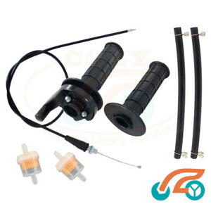 Handle Bar Throttle Grip Cable Fuel Filter F Lifan 100cc 125cc 150 200 Dirt Bike