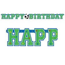 Football Soccer Happy Birthday Letter Banner Party Hanging Decoration 125392
