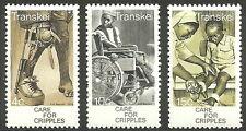Transkei - Behindertenhilfe Satz postfrisch 1978 Mi. 45-47