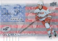 2015-16 Upper Deck Ice Global Impact #GI-NH Noah Hanifin Carolina Hurricanes