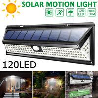 Lampada luce faretto faro esterno energia solare 118 / 120 LED sensore movimento