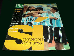FIFA WORLD YOUTH CUP MALAYSIA 1997 - ARGENTINA CHAMPION - Ole magazine w/Poster