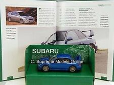 SUBARU IMPREZA CAR MODEL & BOOK SET 1/43 HAYNES 2 DOOR BLUE EXAMPLE T3412Z ~#~