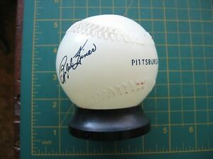 VINTAGE GLASS BASEBALL BANK RALPH KINER PITTSBURGH PIRATES UNITED CEREBRAL PALSY