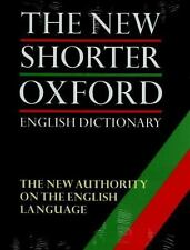 The New Shorter Oxford English Dictionary