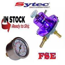 FSE SYTEC ajustable Regulador de presión de combustible 1:1 & Calibrador 1-5 barra púrpura SAR001P