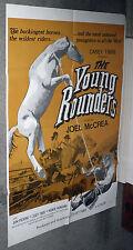 THE YOUNG ROUNDERS orig 1971 movie poster CASEY TIBBS/JOEL MCCREA/MONTIE MONTANA