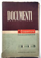 Documenti Architettura Serie 0 Fascicolo 4 Numero 15 Coperture Vallardi 1950