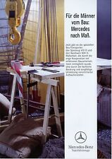Prospekt 1992 Mercedes 410 D 809 D Baustellenfahrzeuge 9 92 LKW Lastwagen truck