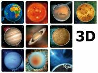 3D the planets of the Solar System Lineal Die Planeten unseres Sonnensystems