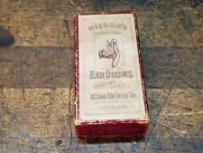 Patent 1892 Wilson'S Ear Drums Co. Box Only-Early Medical Advertising Louisville