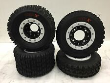 Hiper CF1 Beadlock Rims Maxxis Razr XM Tires Front/Rear Kit Yamaha Banshee 350