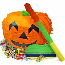 Halloween Pinata Set Pumpkin Party Game Supplies Decor Trick Or Treat Toy Loot