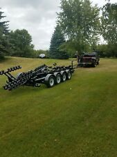 Custom reconditioned boat transport Quad axle trailer
