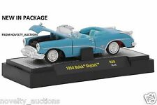 K3 32500 39  M2 MACHINES AUTO THENTICS 1954 BUICK SKYLARK  BLUE  1:64